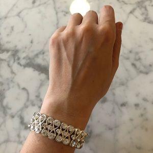 🔥 Stretchy Silver Tone Rhinestone Bracelet